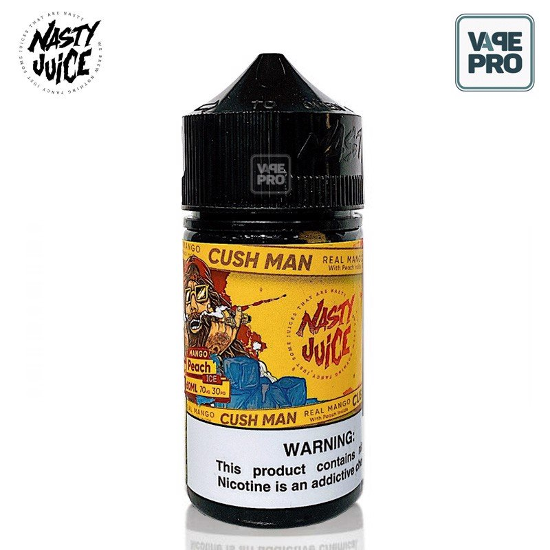 MANGO PEACH CUSH MAN (Xoài Đào lạnh) - NASTY JUICE E-LIQUID - 60ML