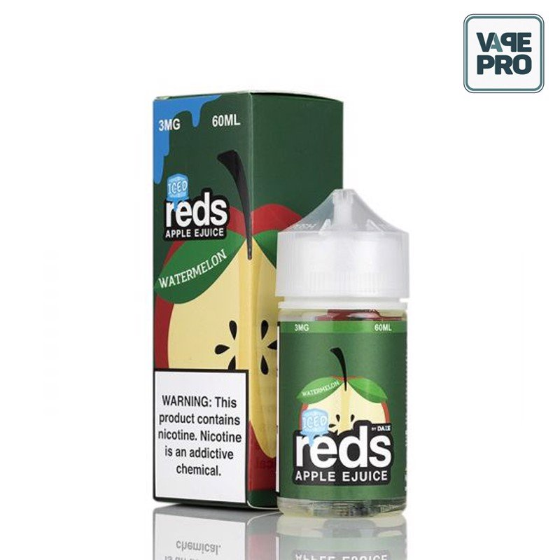 ICED WATERMELON (Táo Dưa hấu lạnh)- REDS APPLE E-JUICE - 7 DAZE - 60ML