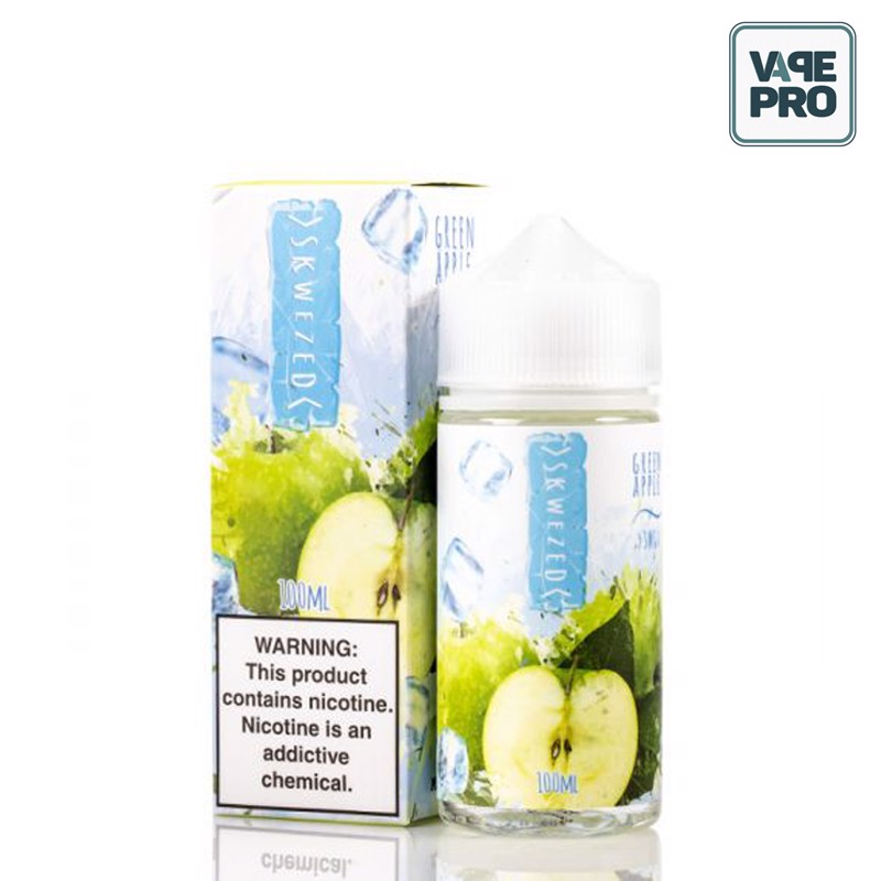 ICED GREEN APPLE (Táo xanh lạnh) - SKWEZED E-LIQUID - 100ML
