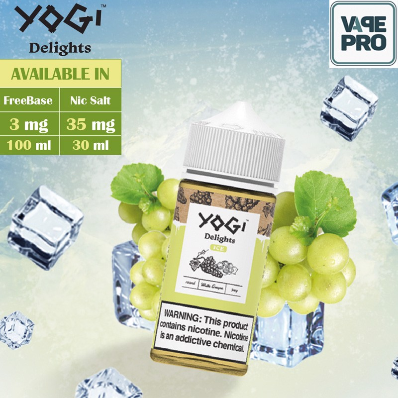 White Grape ice ( Nho lạnh) Yogi Delights 100ml