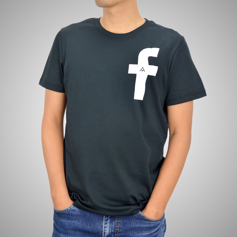 Áo T.shirt cotton Face Book đen - TSFB01