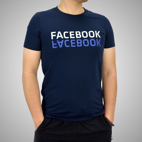Áo T.shirt cotton Face Book  tím than - TSFB02