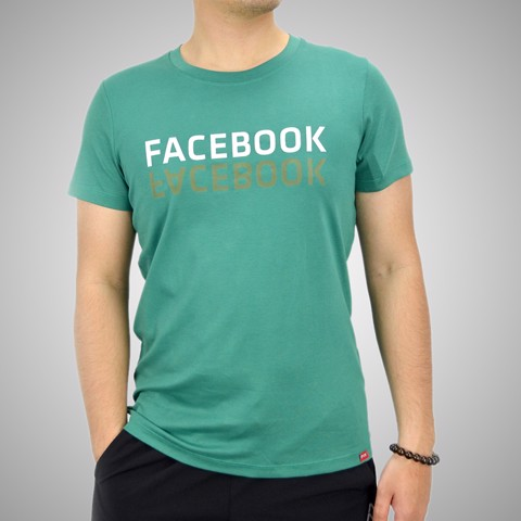 Áo T.shirt cotton Face Book Xanh Lá  - TSFB02