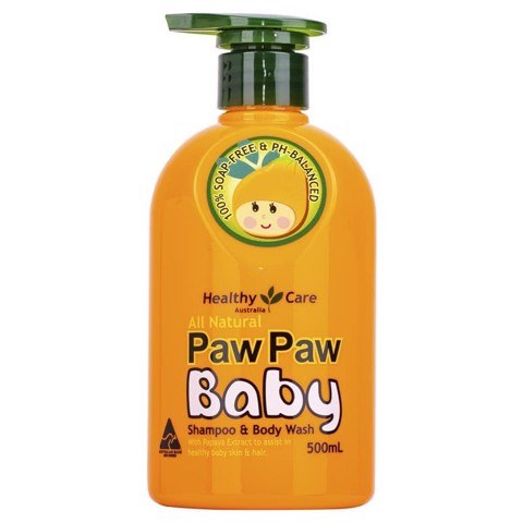 Sữa Tắm Gội Cho Bé Healthy Care All Natural Paw Paw Baby Shampoo Wash 500ml