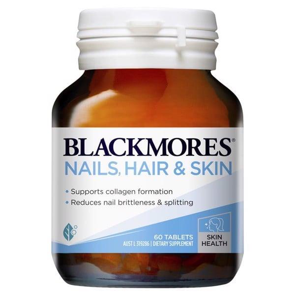 Viên Uống Đẹp Da, Tóc, Móng Blackmores Nails Hair & Skin 60 viên