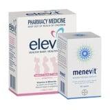 Combo Elevit và Menevit - vitamin tổng hợp cho cặp vợ chồng mong muốn có con