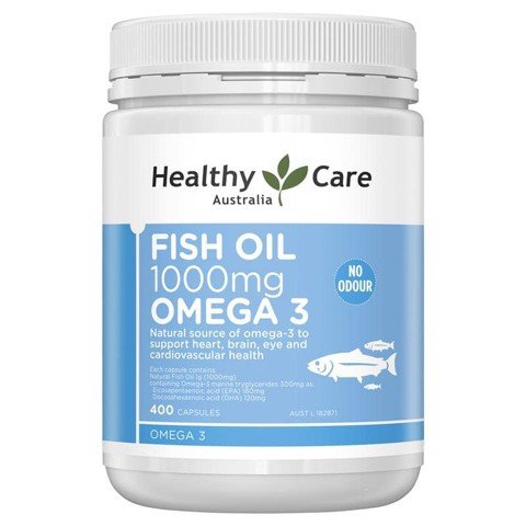 Dầu cá Healthy Care Fish Oil 1000mg Omega 3 400 Viên