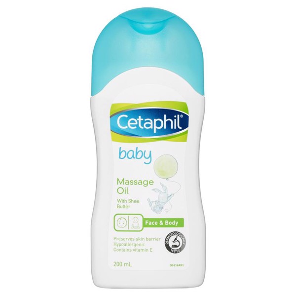 Dầu mát xa cho bé Cetaphil Baby Massage Oil 200ml