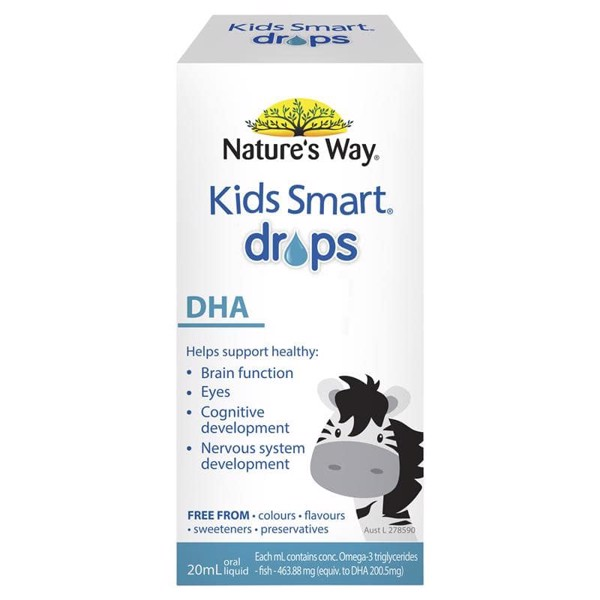 Bổ sung DHA dạng nhỏ giọt - Nature' Way Kids Smart DHA Drops 20ml