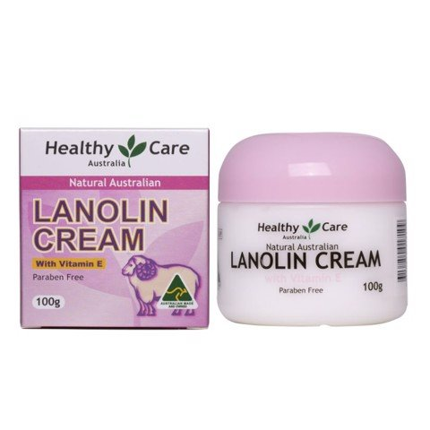 Kem nhau thai cừu Úc Healthy Care Lanolin cream with Vitamin E 100g