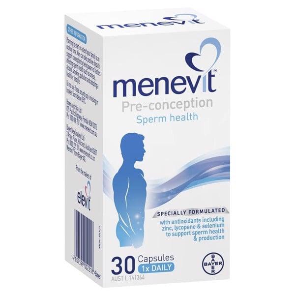 Viên uống hỗ trợ tinh trùng Menevit Pre-Conception Sperm Health 30 viên