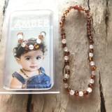 Vòng hổ phách đeo cổ cho bé Little Smile Amber của Úc