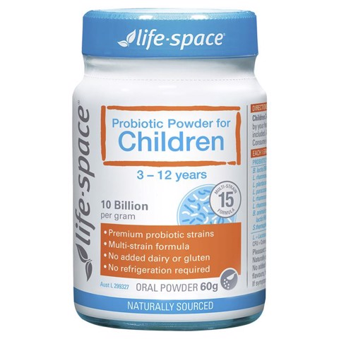 Men vi sinh Life Space Probiotic Powder For Children 60g cho trẻ từ 3 - 12 tuổi