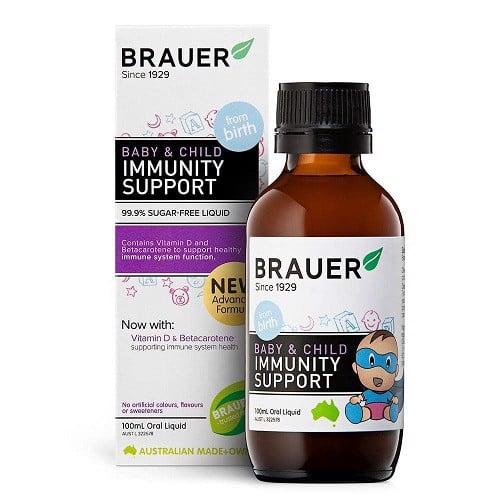 Brauer Immunity Support - Tăng cường đề kháng, hỗ trợ hệ miễn dịch cho bé 100ml