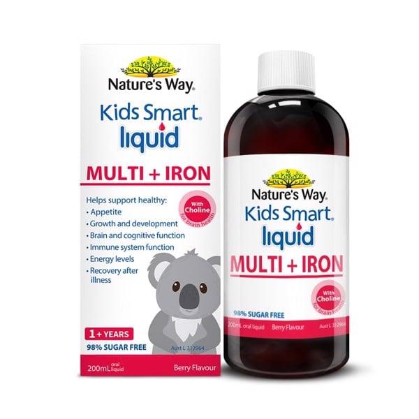 Nature's Way Kids Smart Liquid Multi + Iron - Bổ sung sắt và các vi chất cho trẻ