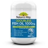 Dầu Cá Không Mùi Nature's Way Odourless Fish Oil 1000mg 200 Viên