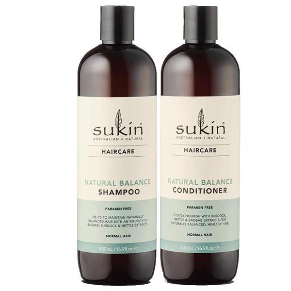 Combo Gội Xả Suôn Mượt Tóc Tự Nhiên Sukin Natural Balance Shampoo 500ml & Natural Balance Conditioner 500ml
