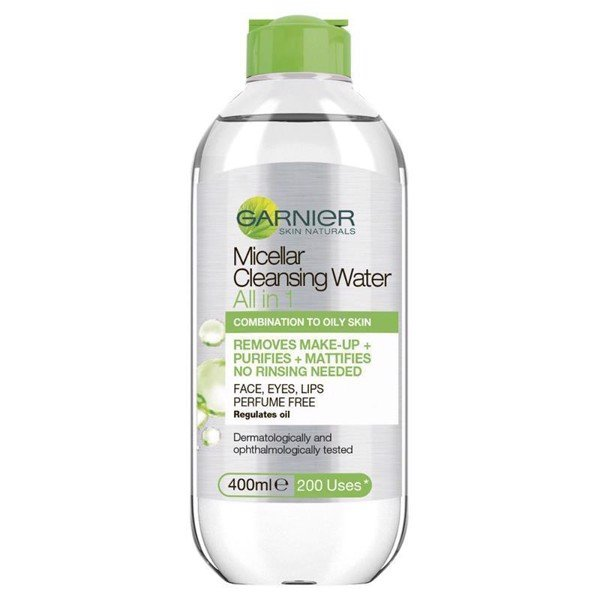 Nước Tẩy Trang Garnier Micellar All In One Oily to Combination Cleansing Water 400ml