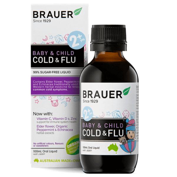 Siro trị cảm cúm Brauer Baby & Child Cold & Flu 100ml