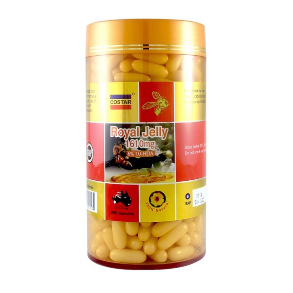Sữa ong chúa Costar Royal Jelly 1610mg 6% 10-HDA 365 viên
