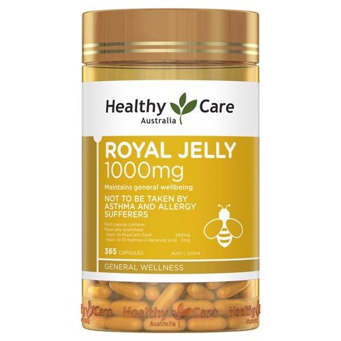 Sữa ong chúa Healthy Care Royal Jelly 1000mg 365 viên