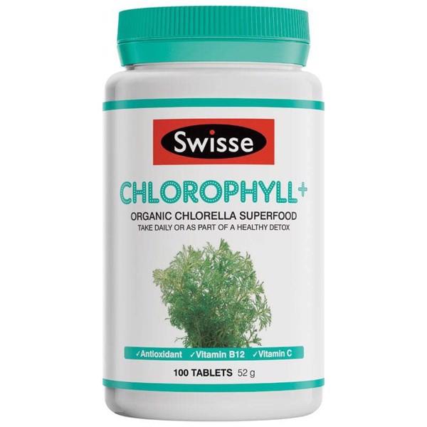 Viên uống diệp lục Swisse Chlorophyll+ 100 Viên