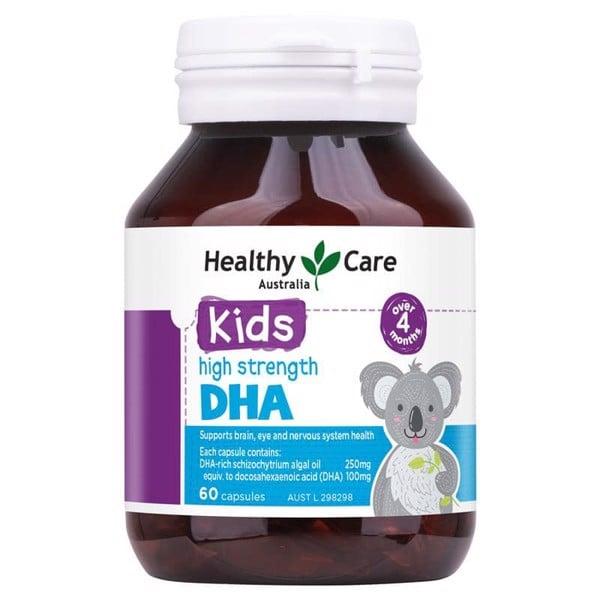 Viên uống DHA kids Healthy Care cho bé 60 viên - Giúp bé thông minh
