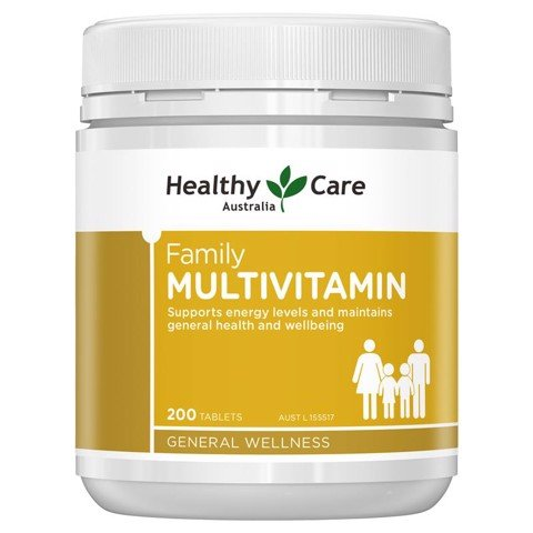 Vitamin Tổng Hợp Healthy Care Family Multivitamin Chewable 200 viên