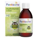 Vitamin tổng hợp kết hợp sắt Pentavite cho bé 1-12 tuổi 200ml