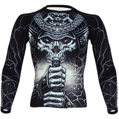 ÁO MMA MARTIAL INNOVATION SKULL SAMURAI - INNOVATION SKULL SAMURAI MMA RASHGUARD