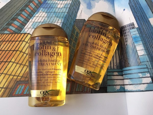 Dầu dưỡng tóc Organix Biotin & Collagen weightless healing Oil treatment