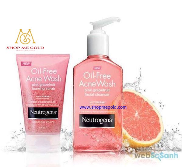 Sữa rửa mặt Neutrogena Oil-Free Acne Wash Pink Grapefruit (Chai 175ml)