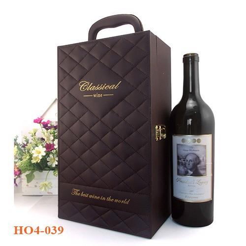 Quà tặng hộp đựng rượu da đẹp