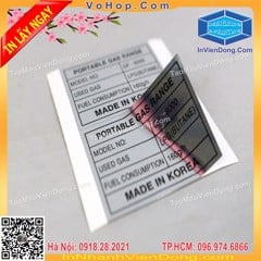 Fast printing Decal stamps with cheap price in Hanoi