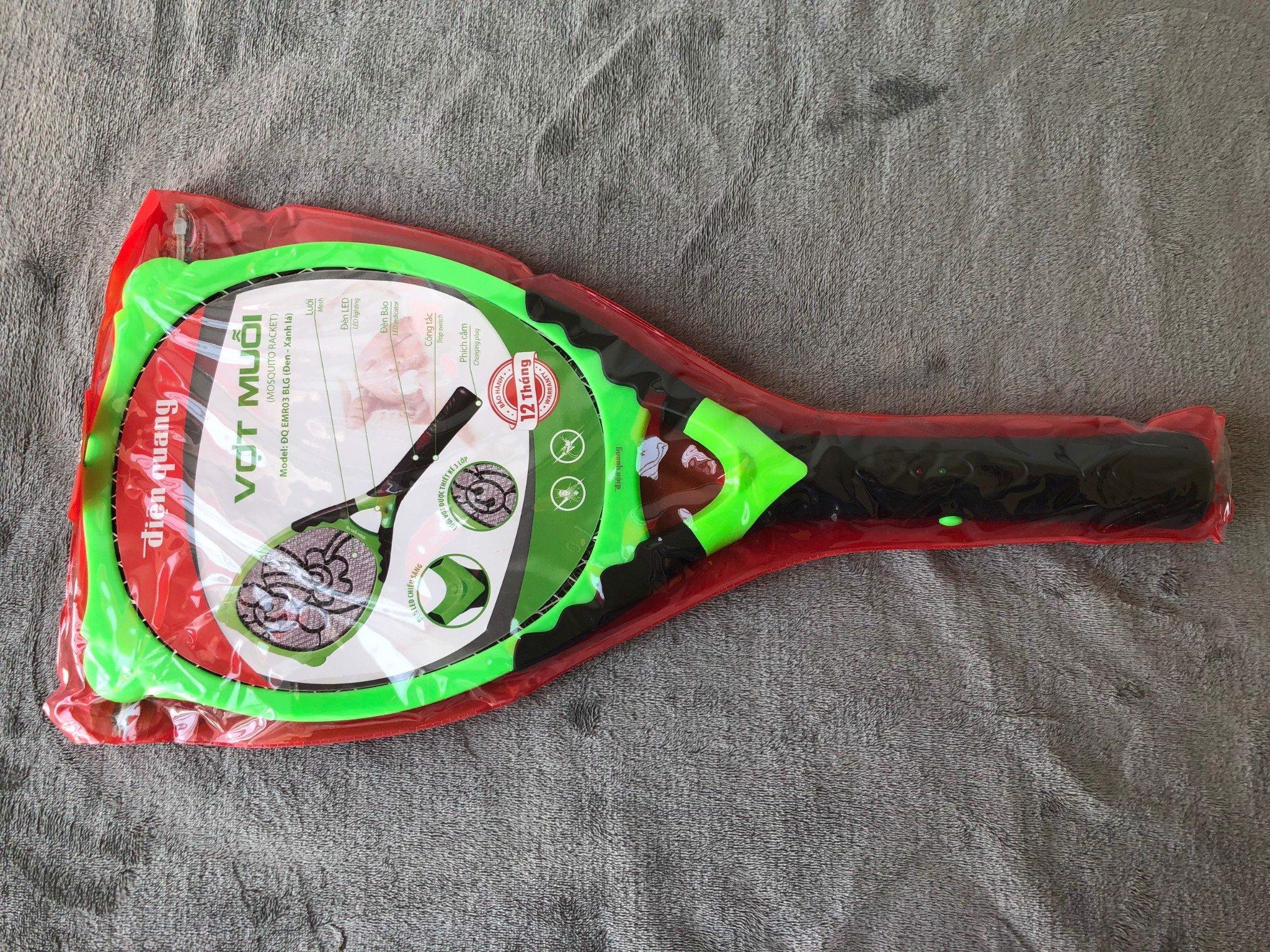 Vợt muỗi Điện Quang ĐQ EMR03 BLG ( Đen - xanh lá )