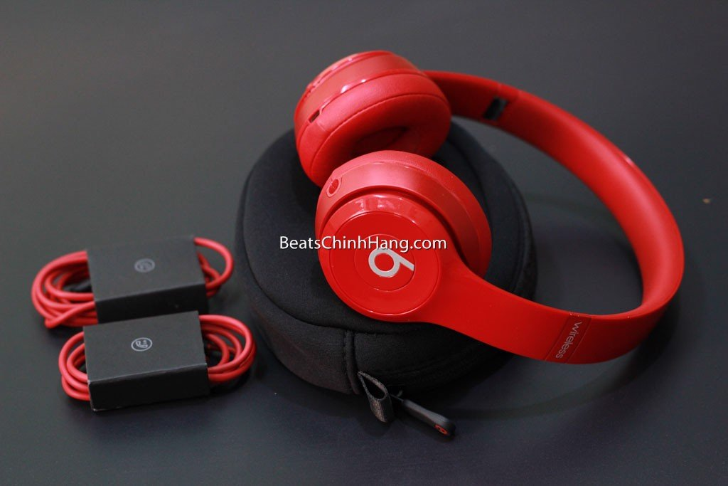 Tai nghe Beats Solo 2 Wireless chính hãng Red All no box