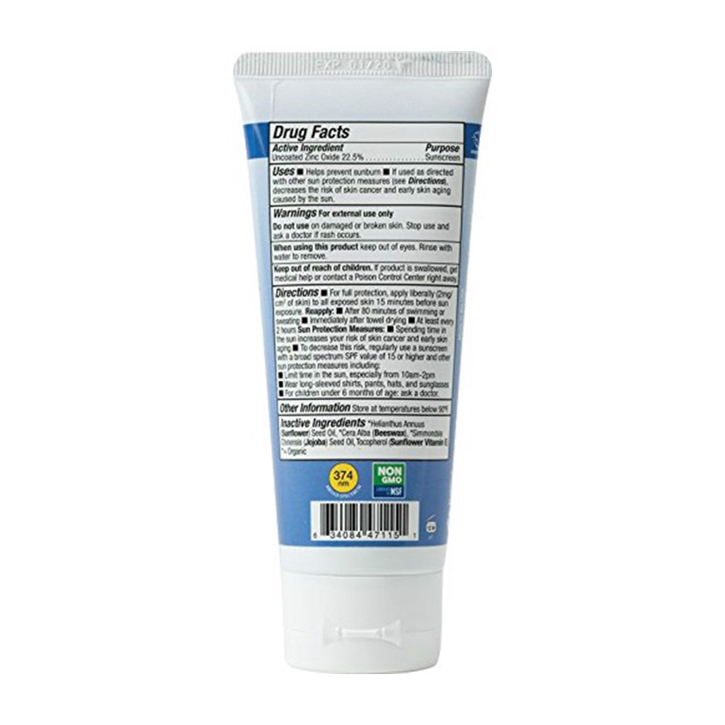 Kem Chống Nắng Thể Thao Clear Zinc SPF 35 Badger