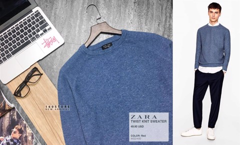 ZRA Twist Knit Sweater