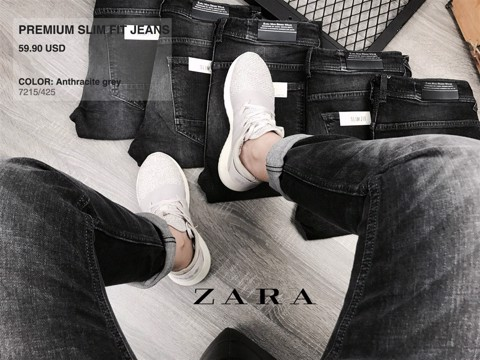 ZRA Jeans Wash Anthracite Grey