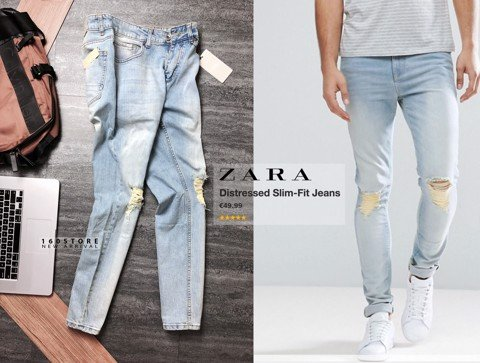 ZRA Distressed Slim Fit Jeans