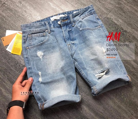 H.M Shorts With Rips