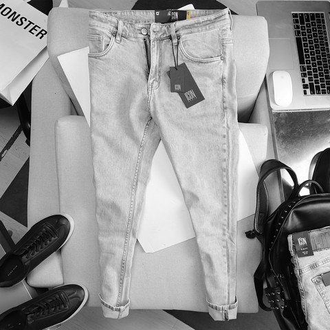 Quần jean ICON DENIM Slim fit light grey