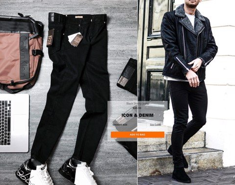 Icon & Denim Black Skinny Jeans