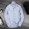 T0MMY Ripped Collar Oxford Shirts