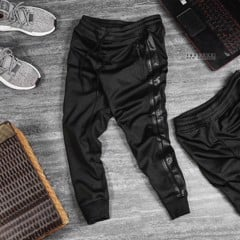 ZRA Jogging Pants With Faux Leather Side Pants