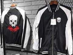 H.&M Skull Embroidered Bomber Jackets