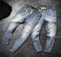 Icon & Denim Jogging Jeans with Zip
