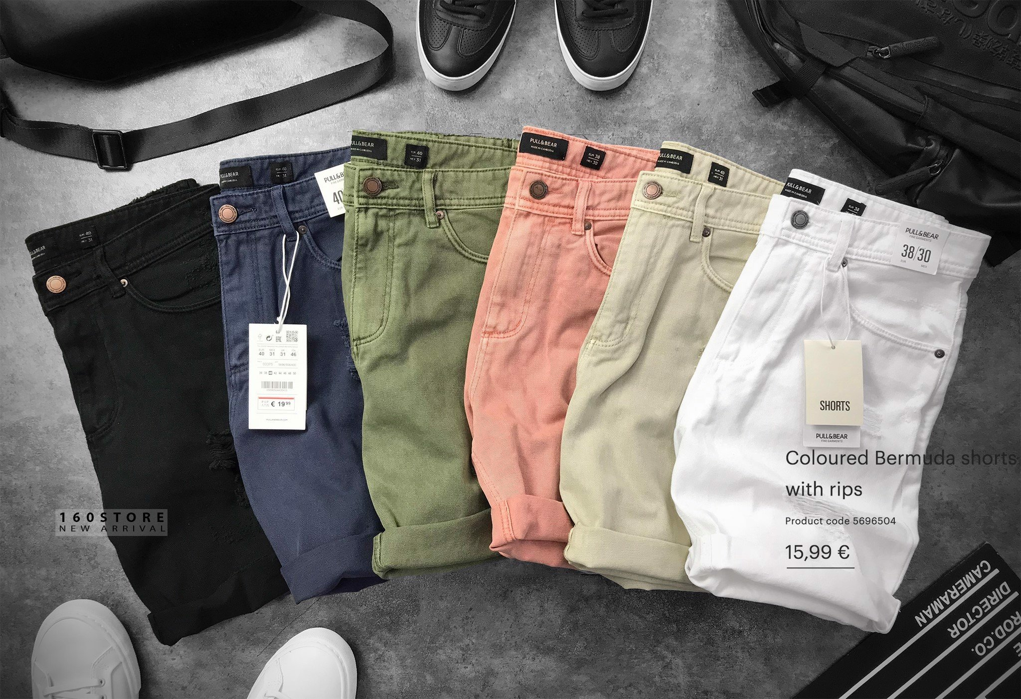 P.&.B Coloured Bermuda Shorts