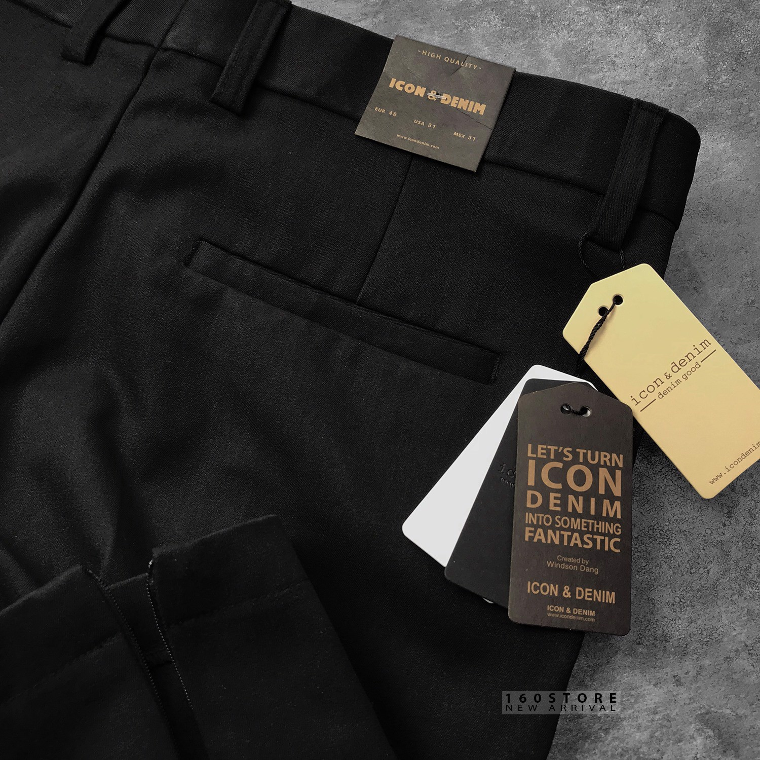 Icon & Denim Trousers with Zip