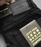 Icon & Denim Black Jeans with Zip